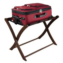 winsome wood luggage rack in antique walnut - Luggage Racks For Bedrooms