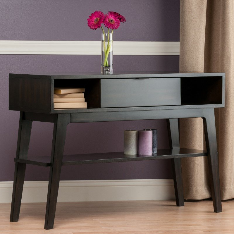Winsome Wood Monty Console Table In Smoke