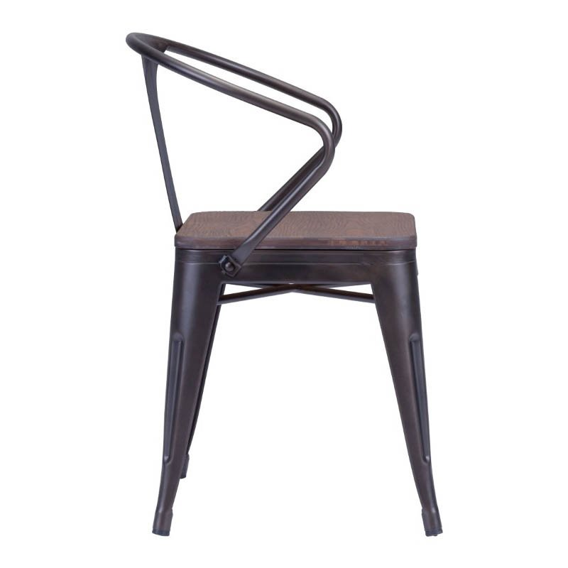 Zuo Helix Dining Chair in Rustic Brown